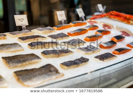 various sliced fish stock photo © shutswis