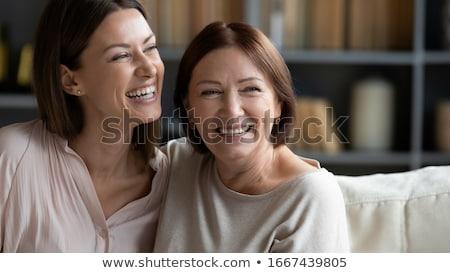 Brunette femme blanche main Photo stock © hlehnerer