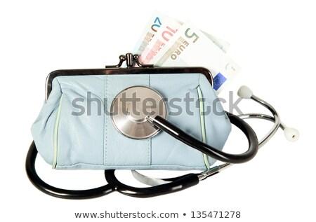 стетоскоп кошелька медицина синий деньги работу Сток-фото © carenas1