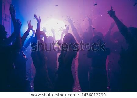 Tánc klub sziluettek szett kék háttér Stock fotó © jkraft5