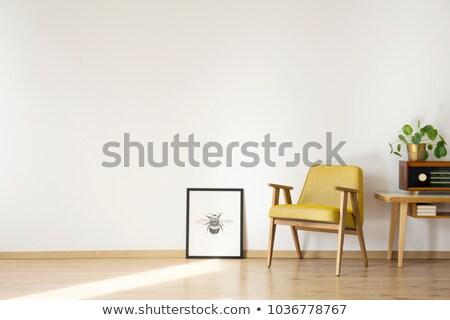 Yellow armchair stock photo © ABBPhoto
