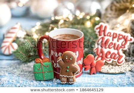 Człowiek kubek kawy kawiarnia działalności włosy Zdjęcia stock © adam121