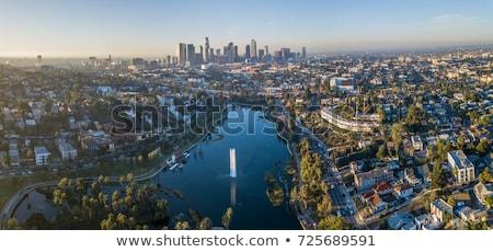 Légi Los Angeles szmog épület tájkép városi Stock fotó © meinzahn