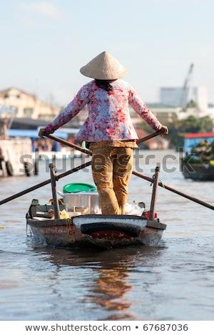 Vietnamese boat bow Stock photo © smithore