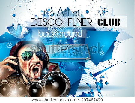 Club Disco Flyer Set with DJs and Colorful backgrounds Stock photo © DavidArts