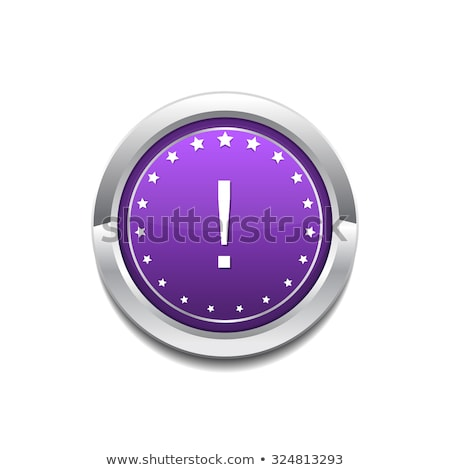 Alertar assinar roxo botão ícone Foto stock © rizwanali3d