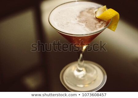 Francês martini coquetel vodka framboesa licor Foto stock © netkov1