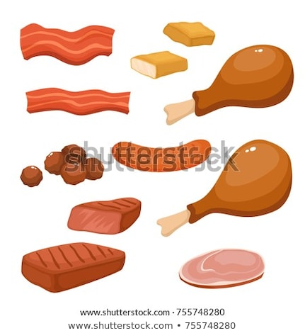 marinált · tyúk · hús · csíkok · serpenyő · fém - stock fotó © digifoodstock