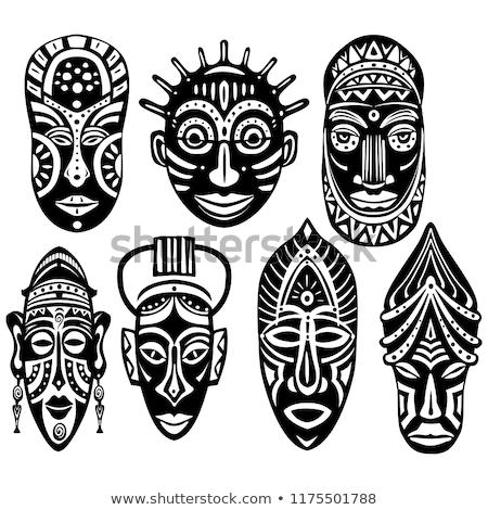 African Symbols Set Stockfoto © wikki