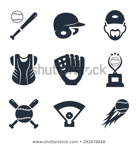 Beysbol kask ikon renk dizayn arka plan Stok fotoğraf © angelp