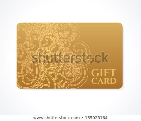 Streszczenie wynagradzać karty ilustracja biały tle Zdjęcia stock © get4net