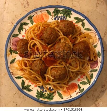 Pasta with veggies and veggie meatballs Stock photo © vertmedia