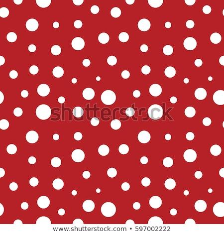 Güzel kırmızı beyaz polka stil model Stok fotoğraf © SArts