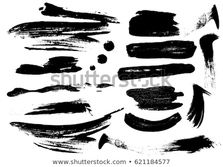 grunge paint stroke in black color Stock photo © SArts