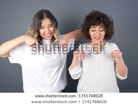 Schoonheid portret twee afro-amerikaanse meisjes jonge Stockfoto © NeonShot