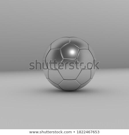 plata · fútbol · fútbol · pelota · 3D - foto stock © Wetzkaz