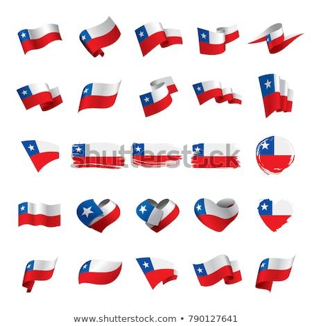 Chile zászló izolált szalag szalag szimbólum Stock fotó © popaukropa