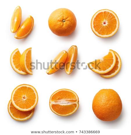 Inteiro cortar laranja macro tiro Foto stock © dash