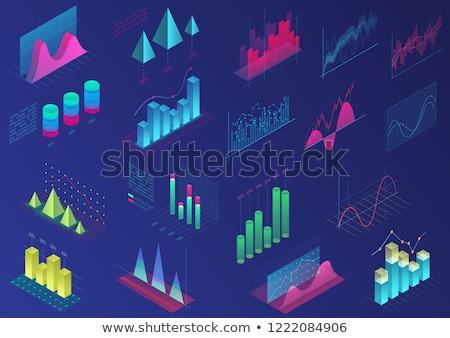 Statistiek heldere poster web flexibele diagram Stockfoto © robuart