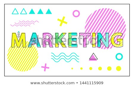 marketing poster geometric figures in linear style stock photo © robuart