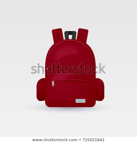 Luggage and Red Rucksack, Vector Illustration Stock photo © robuart