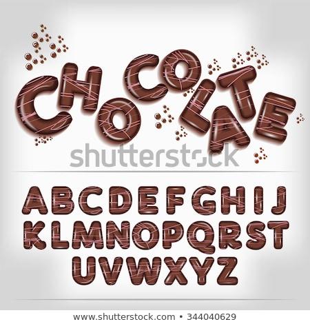 шоколадом · письме · вектора · желтый · темно - Сток-фото © bluering