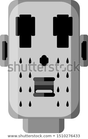 Cartoon Sad Jester Robot Stock photo © cthoman