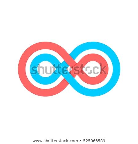 красный синий цепь ссылку вектора логотип Сток-фото © blaskorizov