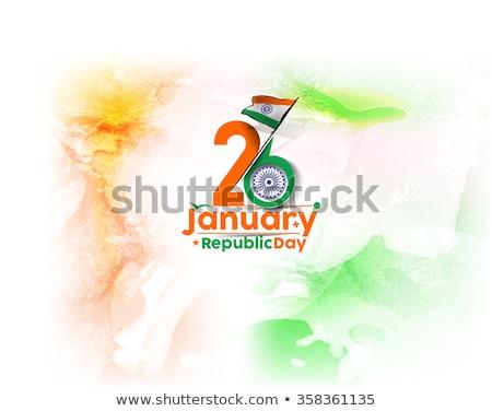 Indiano bandeira república dia pintar país Foto stock © SArts