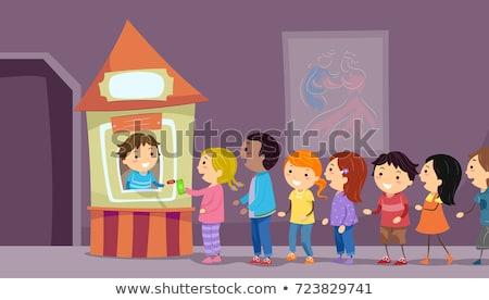 Crianças teatro bilhete cabine ilustração para cima Foto stock © lenm