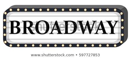 Broadway assinar branco ilustração luz fundo Foto stock © colematt