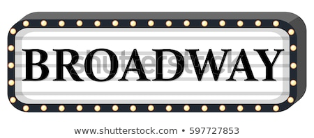 Broadway teken witte illustratie licht achtergrond Stockfoto © colematt
