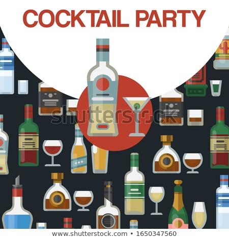 цвета Vintage вечеринка эмблема Label Знак Сток-фото © netkov1
