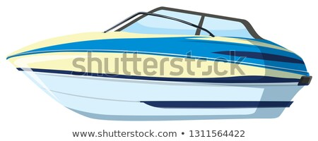water · illustratie · snel · schip · snelheid · golf - stockfoto © bluering