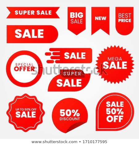 piros · árengedmény · szalag · prémium · vásár · jelvények - stock fotó © Andrei_