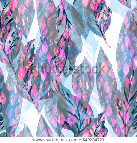 Floral seamless pattern. Tropical leaves over abstract painting  Stock photo © Terriana