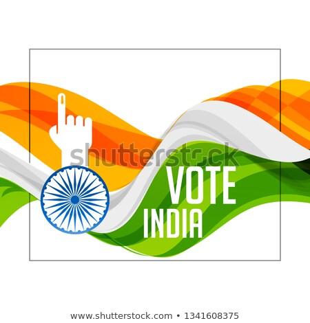 цвета индийской флаг голосование стороны стране Сток-фото © SArts