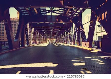 Chicago ochtend licht USA gebouw brug Stockfoto © vwalakte