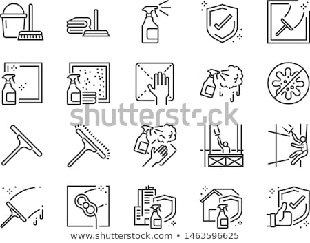 vector set of glass and mirror cleaner stock photo © olllikeballoon
