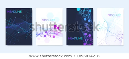 Vetor abstrato tecnologia folheto linha negócio Foto stock © designleo