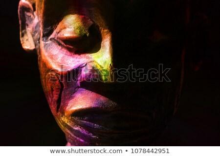 Törzsi afrikai maszk művészet minta végtelen minta Stock fotó © cienpies