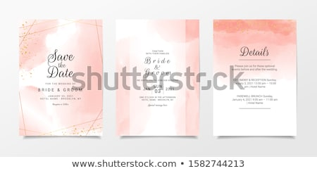 Stylish Wedding Invitation Card Design With Line Leaves And