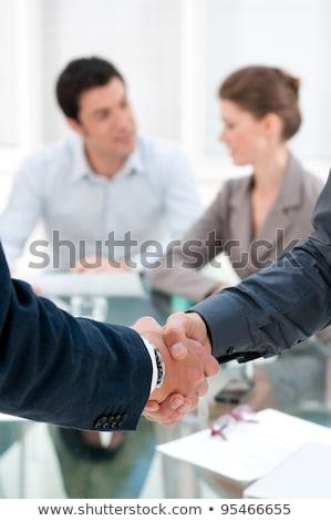 два деловой человек рукопожатием заседание служба успех Сток-фото © Freedomz