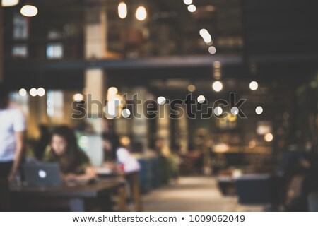 Cafetería biblioteca borroso resumen luz calle Foto stock © Freedomz