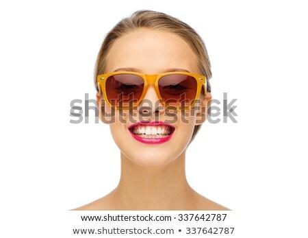 cosméticos · make-up · vermelho · gloss · batom · moda - foto stock © serdechny