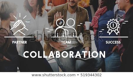 Echipa de afaceri Reuniunea discuţie partener cuvant Imagine de stoc © Freedomz