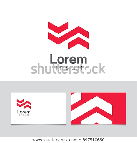 Mértani nyíl logoterv sablon cég arculat Stock fotó © kyryloff