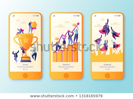 Business Success of Teamwork, Prize Cup Vector Stock photo © robuart
