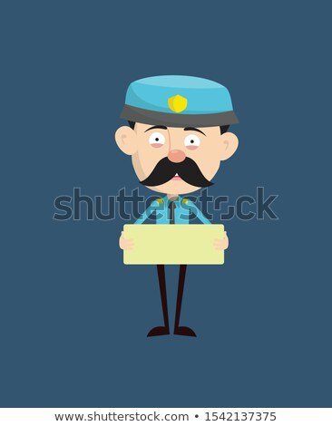 Policeman and message boards Stock photo © ShustrikS