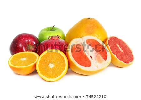 Appels sinaasappelen verkoop markt voedsel groep Stockfoto © elxeneize